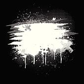 Black and white paint splatter