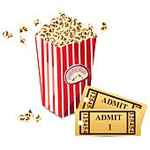 Pop Corn with Movie Ticket
