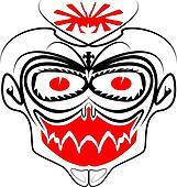 Tribal Death Mask Vector