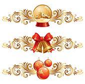 Christmas design elements & holiday symbols - vector illustration