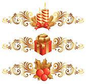 Vector Christmas symbols & ornament