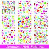 Seamless Holi Pattern
