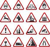 Triangular Warning Hazard  Signs se