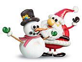 VeggieFruit Snowman & Santa