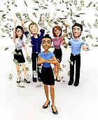 3D money rain