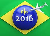 3d Rio 2016. Brazil summer olympic games.