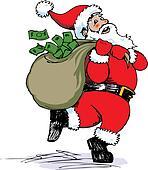 Santa Sack Clip Art - Royalty Free - GoGraph