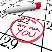 Calendar - Day For You Treat Yourself Indulge and Relax