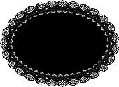 Lace Doily Placemat, Black