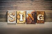 Sing Concept Letterpress Theme