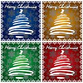 4 Christmas Greeting Cards