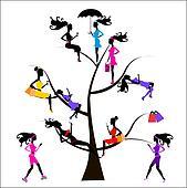 Sociology Tree different girls