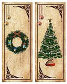 Christmas labels or postcards