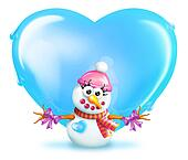 Snowman Love - Girl