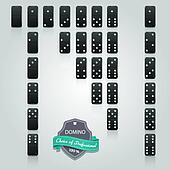 Domino black set of 28 pieces