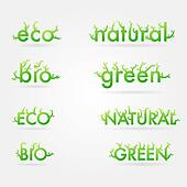 Vetor ecology set