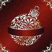 Elegant Christmas card in red