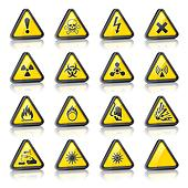 Set of three dimensional Warning