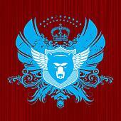 Vector Heraldry emblem with bear head