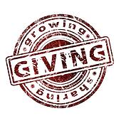 "Grunge Rubber Stamp ""Giving"""