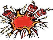 Dynamite Explosion Cartoon Vector I