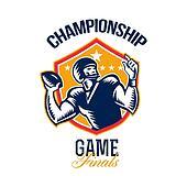 American Football Championship Game Finals Shield