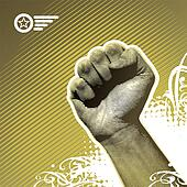 Protest hand sign - vector illustration