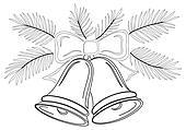 Christmas bells, contours