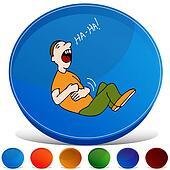 Belly Laugh Gemstone Button Set