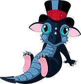 New 2012 year cartoon dragon