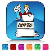 Copier Clip Art - Royalty Free - GoGraph