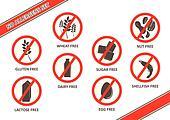 Allergen Free Stickers