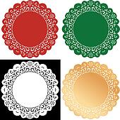 Holiday Lace Doily Place Mats