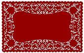 Vintage Lace Doily Placemat