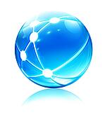 network sphere icon