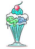 Ice Cream Sundae. WBG.