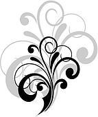 Simple swirling calligraphic design