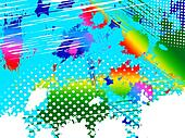 Paint Splash Means Colorful Splashed And Spectrum