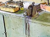 vice and details on workbench