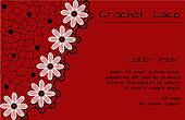 crochet lace banner