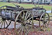 Old wooden wagon
