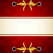 Ribbon tied in Christmas Wallpaper