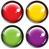 Colored buttons on gray background
