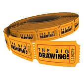 The Big Drawing Ticket Roll Raffle Contest Win Prizes