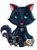Cat and Mouse Halloween Characters