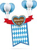 Oktoberfest Gingerbread Heart Ribbon Flag Balloons