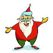 Santa Claus Christmas illustration.