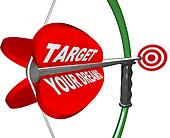 Targeting Your Dreams Bow Arrow Bulls-Eye Target