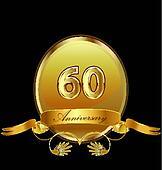 60th anniversary birthday seal
