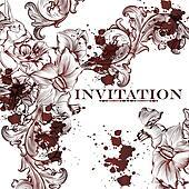 Elegant  floral vector pattern or background